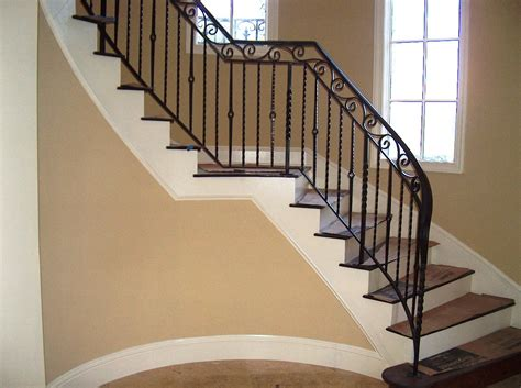 Metal Banisters And Railings Wrought Iron Stair Railing