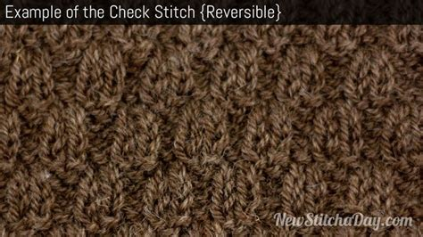 knitting exles exle of the check stitch reversible knitting
