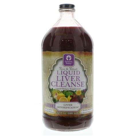 Liquid Liver Detox genesis today liquid liver cleanse 32 oz