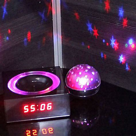 Alarm Clock With Light On Ceiling by Shining Projecting Lcd Alarm Clock With Nature Sounds