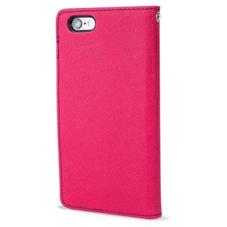Goospery Iphone 6 Fancy Diary Wallet mercury goospery fancy diary iphone 6s 6 wallet pink navy mobilezap australia