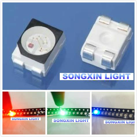 Jual Led Smd Rgb wholesale 100pcs rgb power top 1210 3528 smd smt plcc 2 led green blue new in diodes from