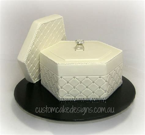 Engagement Ring Box Cake   CakeCentral.com