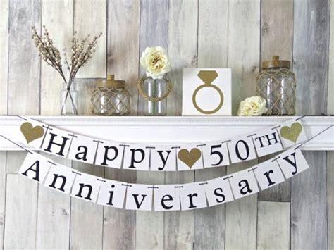 Simple Diy 50th Wedding Anniversary Smileydot Us 50th Anniversary Banner Happy Anniversary Banner