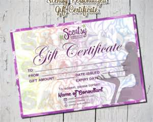 scentsy gift certificate template unavailable listing on etsy