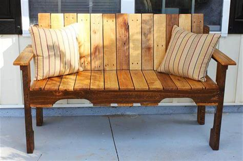 diy porch bench diy pallet farmhouse bench front porch bench 101 pallets