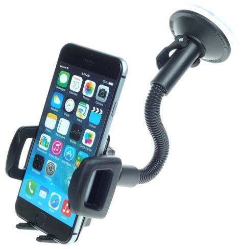 adjustable apple iphone 6 holder gooseneck suction mount holders and mounts