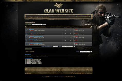 drupal themes clan clan gaming phpbb skin