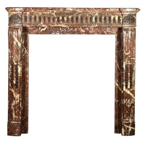 Brown Marble Fireplace by 18th Century Antique Fireplace Mantel In Brown Belgian