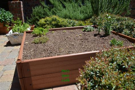 Boxed Garden Ideas My Gardening Experiment Creating A Raised Herb Garden Peri S Spice Ladle