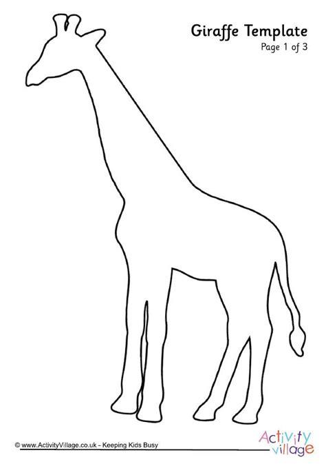 template of giraffe žirafa šablona 2 šablony giraffe template and animals