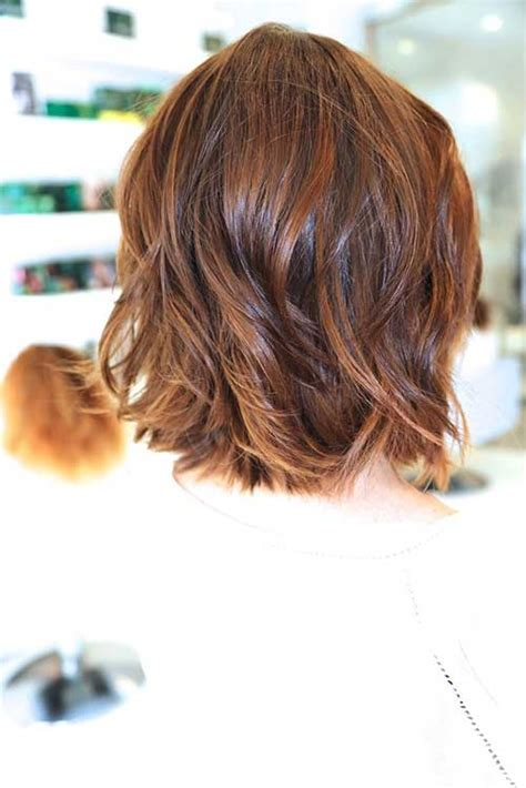 back view of short shag hairstyles the long and short of wavy hair queens jewish link