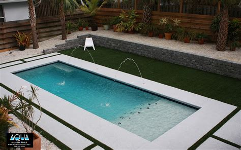 Decks With Above Ground Pools by Modern Pool With Deck Jets All Aqua Pools