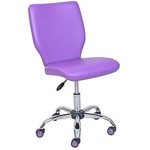 True Designs Chair True Designs Armless Vinyl Task Chair Purple Staples 174