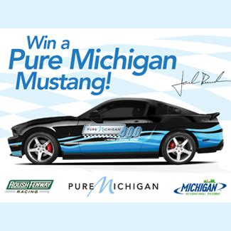 Roush Mustang Giveaway - roush mustang sweepstakes michigan international speedway