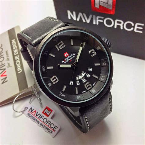 Naviforce Nf9094m Original Kulit Abu Abu Jam Tangan Pria Cowok jam tangan naviforce jam tangan murah di bali