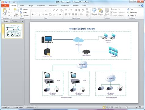 powerpoint themes networking network diagram templates for powerpoint