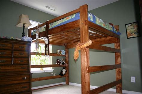 queen bed loft plans ana white build  loft bed