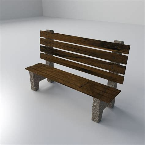 beach benches beach bench 3d model 3ds fbx blend dae cgtrader com