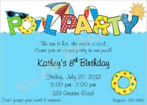 birthday pool party invitations gangcraft net