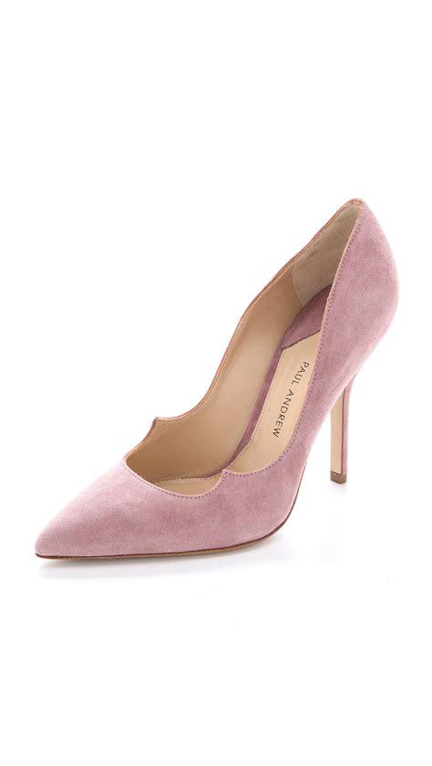 Shoes Top Dusty lyst paul andrew zenadia pumps dusty in pink