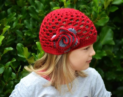 free pattern crochet hat red hat the green dragonfly