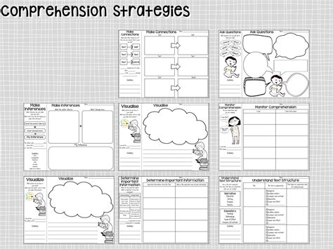 printable reading comprehension graphic organizers reading comprehension graphic organizers what i have learned