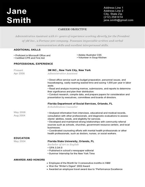 Sample Career Objective For Resume by Creative Resume Templates Amp Downloads Resume Genius