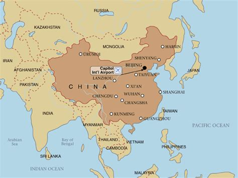 asia map china china map continent view maps of china with cities