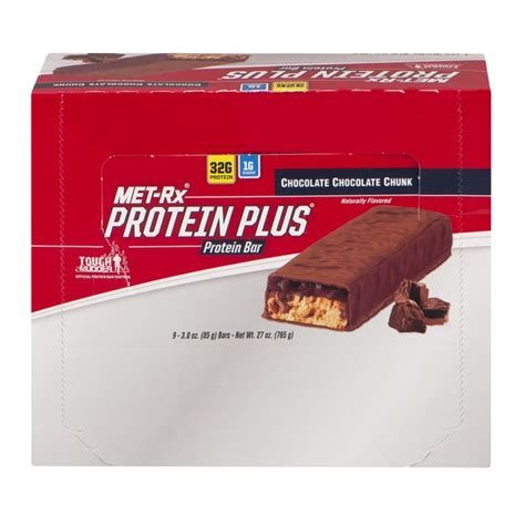 9 protein bars met rx protein plus protein bar chocolate chocolate chunk