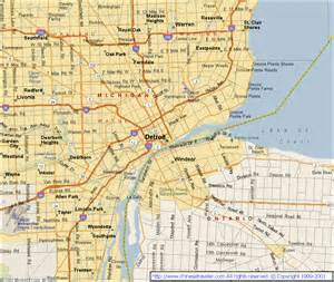 Map Of Detroit Michigan by Similiar Map Of Detroit Mi Keywords
