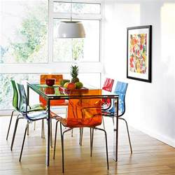 Colourful Kitchen Cabinets colourful contemporary dining frost dining table and gel