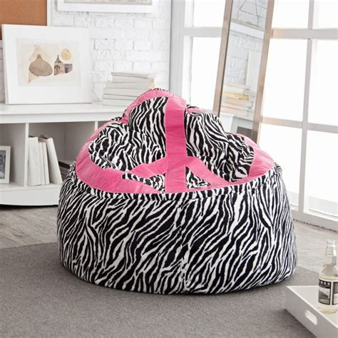 peace sign bean bag chair 25 best images about zebra bean bag chair on