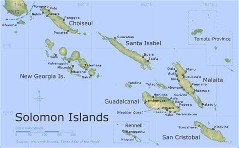 solomon islands map salomon inseln karte routen