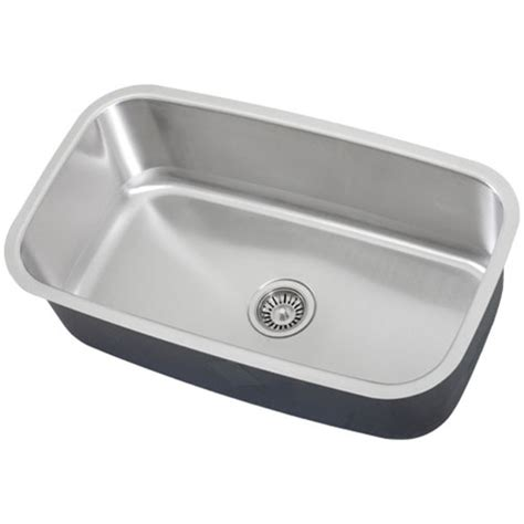 Ticor S112 Undermount Stainless Steel Single Bowl Kitchen Ticor Kitchen Sinks