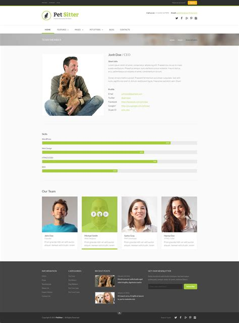 themeforest membership pet sitter job board responsive wordpress theme by dan