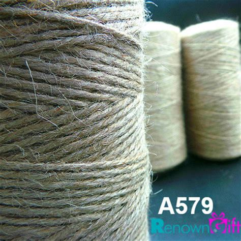 Tali Rami Putih tali guni untuk hasilan kraf cenderahati perkahwinan