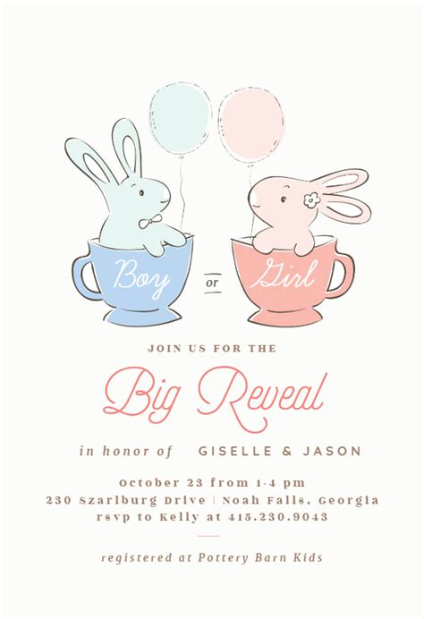 big reveal baby shower invitation template   island