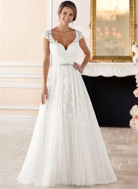 Hochzeitskleid Schlicht Mit Spitze by Brautkleider Schlicht A Linie Mit Spitze Dein Neuer