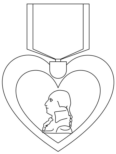purple heart coloring page veterans day remembrance az coloring pages