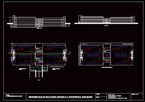 multi level parking dwg block  autocad designs cad