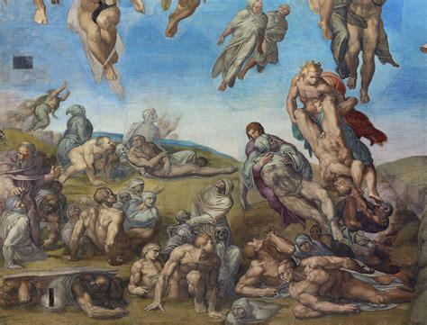 michelangelo giudizio universale dettagli ascesa dei beati the il giudizio univerale michelangelo thinglink