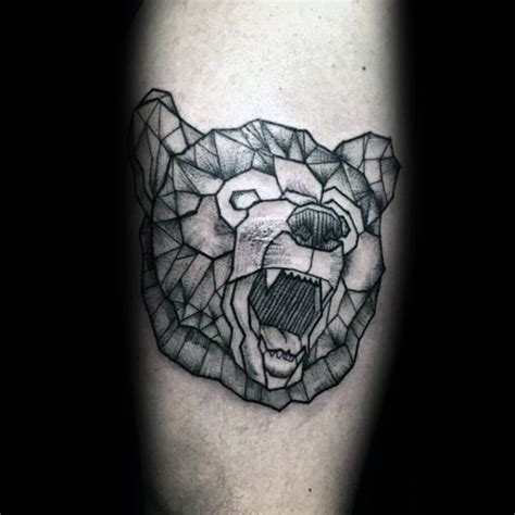 geometric bear tattoo tattoo collections