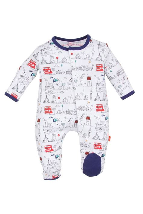 Tally Maternity magnificent baby boy s footie on the go in tally ho