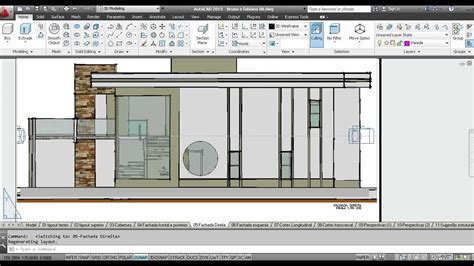 viewport in layout autocad 3d viewports de planta de cobertura fachadas e