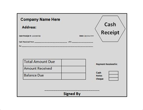 receipt for money received template 18 money receipt templates doc pdf free premium