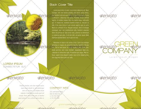 indesign trifold template green trifold brochure indesign template by alvarocker