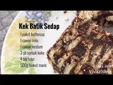 youtube membuat kek batik resepi kek batik sedap dan senang nak buat youtube