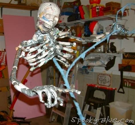 build a paper mache skeleton finish out spookyblue