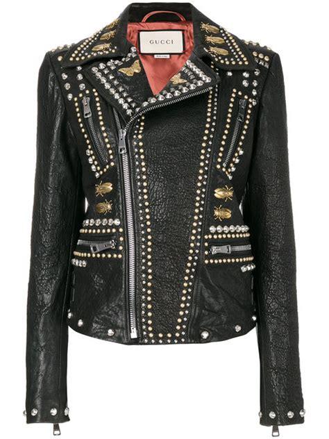 2 Die 4 Gucci Biker Jacket by Salma Hayek Enjoys Beverly Date